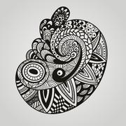 Stock Illustration of vector paisley design element