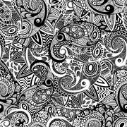 Stock Illustration of vector seamless paisley doodle pattern