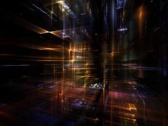 Perspectives of Fractal Metropolis Stock Illustration