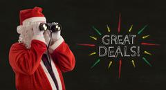 father christmas great deals promotion - stock photo