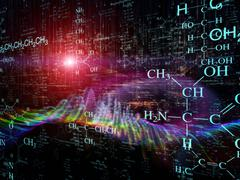Lights of Science Stock Illustration