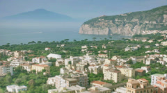 Holiday Destination Sorrento Bay Of Naples Italy - 25FPS PAL Stock Footage