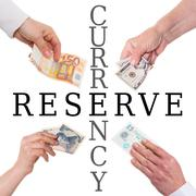 Important currencies concept reserve currency Stock Illustration