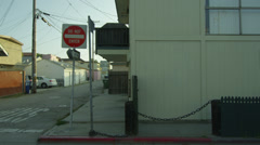 Deserted Alley in 4K Do Not Enter Sign California Los Angeles Venice Beach Stock Footage