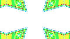 Green motion mosaic, loop HD Stock Footage