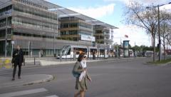 Building of the Regional Council in France, Strasbourg Stock Footage