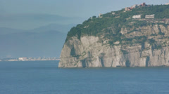 Punta Scutari in Bay of Naples Italy - 25FPS PAL Stock Footage