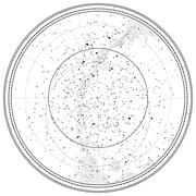 Stock Illustration of astronomical celestial map