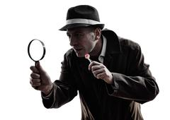 Detective man criminals investigations  silhouettes Kuvituskuvat