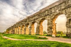 Park of the aqueducts, rome Stock Photos