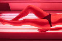Collagen solarium Stock Photos