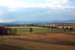 Open farm Battlefield Stock Photos