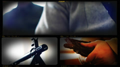 4K Collage of Army and Special Forces Weapons Stock Footage