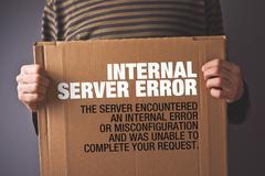 http error 500, server error page concept - stock illustration