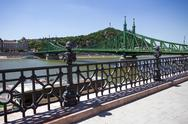 Stock Photo of view of liberty bridge over danube, budapest