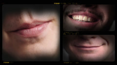 4K Collage of Different Smiles Roulette - stock footage