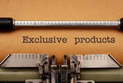 Exclusive products Stock Photos