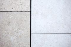 Beige travertine decorative tiles Stock Photos