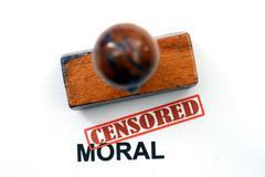 Censored moral Stock Photos