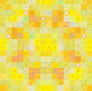 color background with abstract mosaic - stock illustration