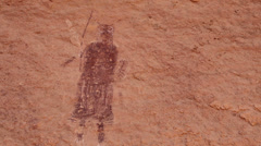 Pictographs Canyonlands National Park Maze District Harvest Panel Holy Man Stock Footage