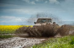 off road jeep - stock photo