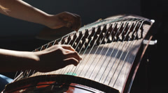 Guzheng Playing Stock Footage