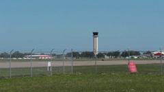 Pan across St. Petersburg/Clearwater airport Stock Footage