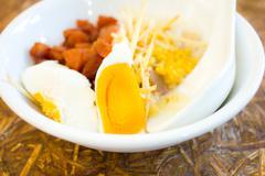 gruel in bowl - stock photo