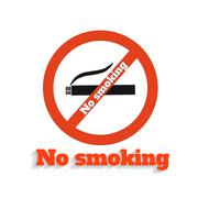 no smoking - stock illustration