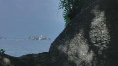 Isola dei Pescatori Lago Maggiore Stresa Italy - 25FPS PAL Stock Footage