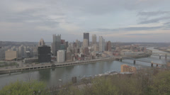Skyline of Pittsburgh, Pennsylvania - stock footage