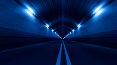 Tunnel Road Ajo Fast Endless Saumaton Loop Blue Arkistovideo