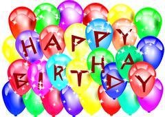 Birthday balloons Piirros