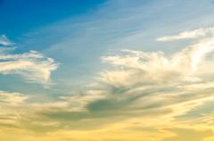 Beauty of sunrise scene on the sky Stock Photos