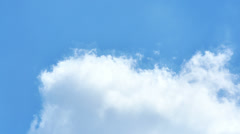 Time is passing fast concept. Time lapse footage of blue sky with clouds - stock footage