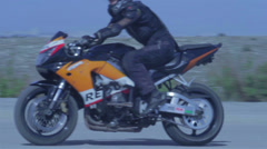 Motorcycle speed ride Stock Footage