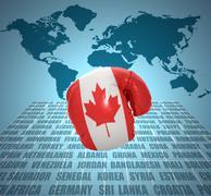 Canadian fist Stock Illustration