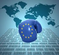 Stock Illustration of european union fist