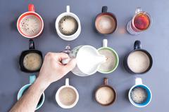time for a coffee break or teatime - stock photo