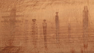 Stock Video Footage of Pictographs Canyonlands National Park Maze Area Harvest Panel Holy Men Scene 2