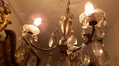 Chandelier in the hall Stock Footage
