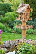 Homemade bird house Stock Photos