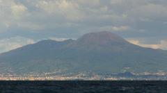 Italy -  Gulf of Naples - Vesuvius Stock Footage