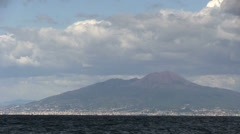 Italy - Campania - Gulf of Naples - Vesuvius Stock Footage
