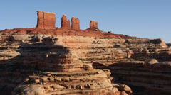Canyonlands National Park the Maze District Chocolate Drops Butte Stock Footage
