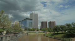 Richmond City Canal Timelapse - City Skyline Stock Footage