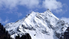 Snow capped mountain of the alps Stock Footage