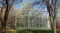 Conservatory spring at the Brooklyn Botanical Gardens. Stock Footage