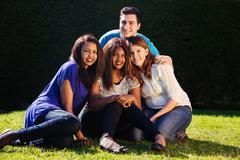 International group of friends Stock Photos